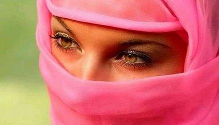 Мусульманка, женщина, брови, лицо