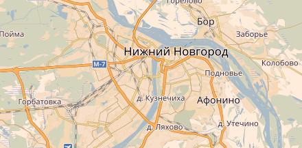 Карта Нижнего Новгорода