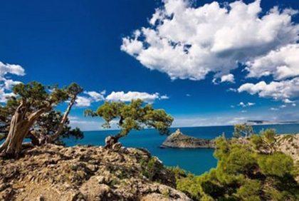 Крым, Осень, Море, Скалы, Природа