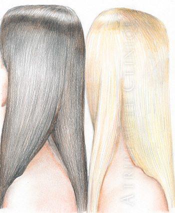 Размер и форма длинных волос