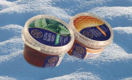 Две банки пасты для шугаринга Елена Маая в снегу