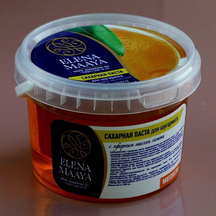 Паста для шугаринга «Елена Маая» с эфирным маслом лимона